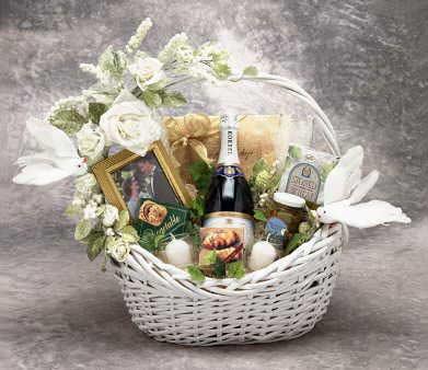Wine Wedding Gift Basket
